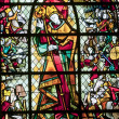 Rennes, stained glass window - 图库照片