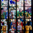 Stock Photo: Dinan, stained glass