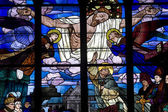 Dinan, stained glass — Stock Photo