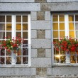 Gorron - Windows and flowers — Foto Stock