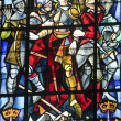 Rouen - Stained glass — Stock Photo