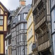Rouen - Exterior of half-timbered houses — Stock Photo