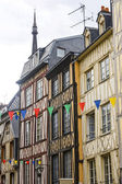 Rouen - Exterior of ancient houses — Stock Photo