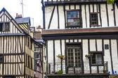 Rouen - Exterior of half-timbered houses — Stock Photo