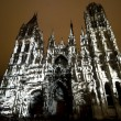 Rouen - The cathedral at night - Foto de Stock  
