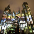 Rouen - The cathedral at night — Stock Photo