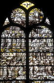 Gisors (Normandy) - Stained glass in gothic church — Stock Photo