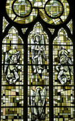 Saint-Leu (Picardie) - Stained glass — Stock Photo