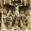Strasbourg - The gothic cathedral, sculptures — Stock Photo