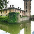 Castle of Mirazzano (Milan) - 图库照片