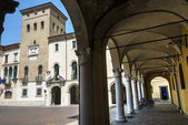 Crema (Italy), historic square — Stock Photo