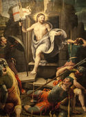 Resurrection, painting in the Sansepolcro Cathedral — Stock Photo