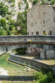 Piobbico, ancient bridge — Stock Photo