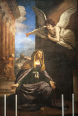 Annunciation - Painting in the San Nicola church of Tolentino — Stock Photo