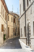 Street of Montecassiano (Macerata) — Fotografia Stock