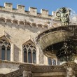 Perugia - Monumental fountain — Stock Photo
