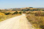 Crete senesi, characteristic landscape in Val d'Orcia — Stock Photo