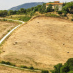 Country house near Volterra (Tuscany) — Stock Photo