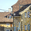 Switzerland - Houses with painted shutters — Stock Photo #25581241