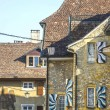 Stock Photo: Switzerland - Houses with painted shutters