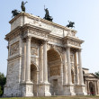 Milan (Italy) - Arco della Pace — Stock Photo