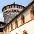 Milan (Italy) - Castello Sforzesco — Stock Photo