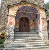 Chianale (Italian Alps): church — Stock Photo