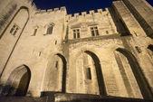 Avignon, palais des papes, par nuit — Photo