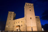The castle of Fossano by night — Stock Photo