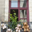 Stock Photo: Uzes (France), hanged teddy bears