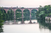 Albi, bridge over the Tarn river — Stock Photo