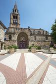 Montagnac, gothic church — Stock Photo