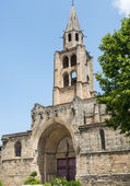 Montagnac, gothic church — Stock Photo