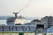 Toulon, hamnen och stadium — Stockfoto
