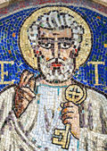 Agliate Brianza, mosaic of St. Peter — Stock Photo