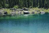Karersee (lake of Carezza) — Stock Photo