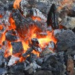 Burninging charcoal — Stock Photo