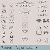 Elements of design in vintage style — Stock Vector