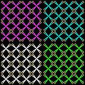 набор четырех бесшовных образцов — Cтоковый вектор