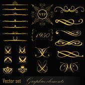 Set of design elements — Wektor stockowy