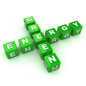 Green Energy Crossword — Stock Photo