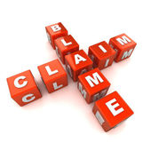 Blame Claim Crossword Concept — Stock Photo