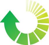 Green Process Arrows — Stock Vector
