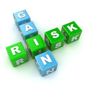 Risk / Gain Crossword — Stock Photo