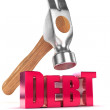 Bringing down Debt — Stock Photo