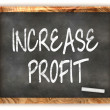 Blackboard INCREASE PROFIT — Stock Photo