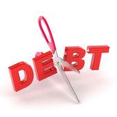 Styckning skuld — Stockfoto