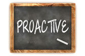 Blackboard Proactive — Stock Photo