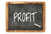 Blackboard Profit — Stock Photo