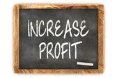 "Blackboard ""INCREASE PROFIT"" — Stock Photo"